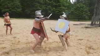 Gladiatorensymposium Museumpark Heilig Land Stichting Orientalis Thraex vs. Murmillo