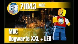 Hogwarts XXL aus Legosteinen with LED ca 25000 Teile wurden verbaut.