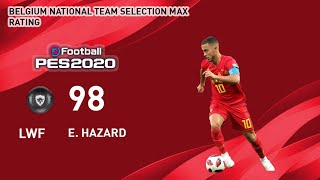 UEFA EURO™ 13 JULY BELGIUM  NATIONAL TEAM SELECTION  MAX RATING PES 2020 MOBILE & PC