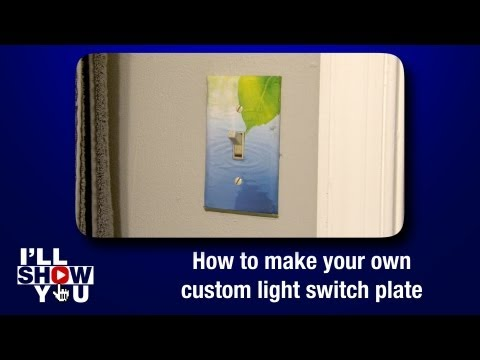 How to make your own custom light switch plate