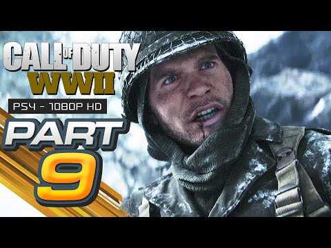Call of Duty WW2 Walkthrough Gameplay Part 9 - BATTLE OF THE BULGE - Campaign Mission 9