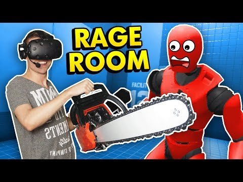 RAGDOLL DUMMY DESTRUCTION IN RAGE ROOM VR (Rage Room Virtual Reality HTC Vive Funny Gameplay)