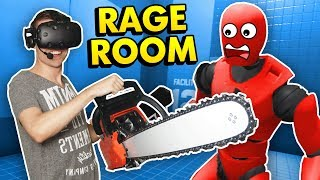 RAGDOLL DUMMY DESTRUCTION IN RAGE ROOM VR (Rage Room Virtual Reality HTC Vive Funny Gameplay)