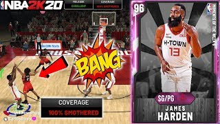 PINK DIAMOND JAMES HARDEN GAMEPLAY! HE MAKES 100% SMOTHERED JUMPERS IN NBA 2K20 MYTEAM GAMEPLAY