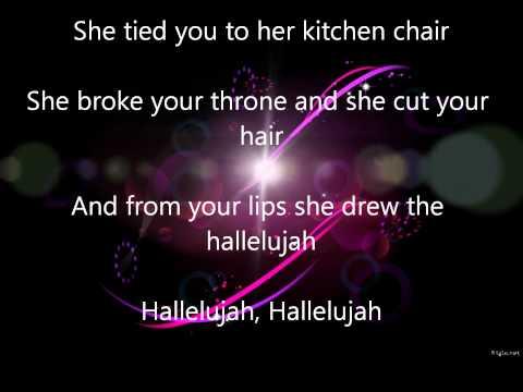 Alexandra Burke-Hallelujah-Lyrics