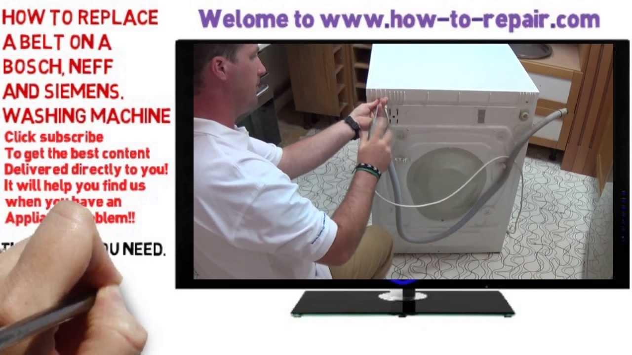 how to put a washing machine belt back on