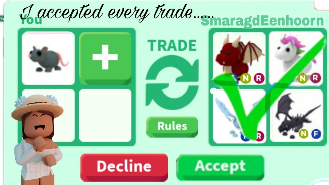 I accepted every trade on adopt me!! - YouTube