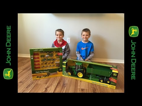 Unboxing - John Deere Tractor and Wagon - Big Farm toy
