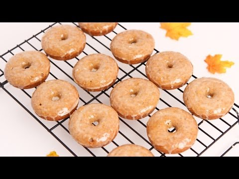 Apple Cider Baked Donuts Recipe - Laura Vitale - Laura in the Kitchen Episode 653