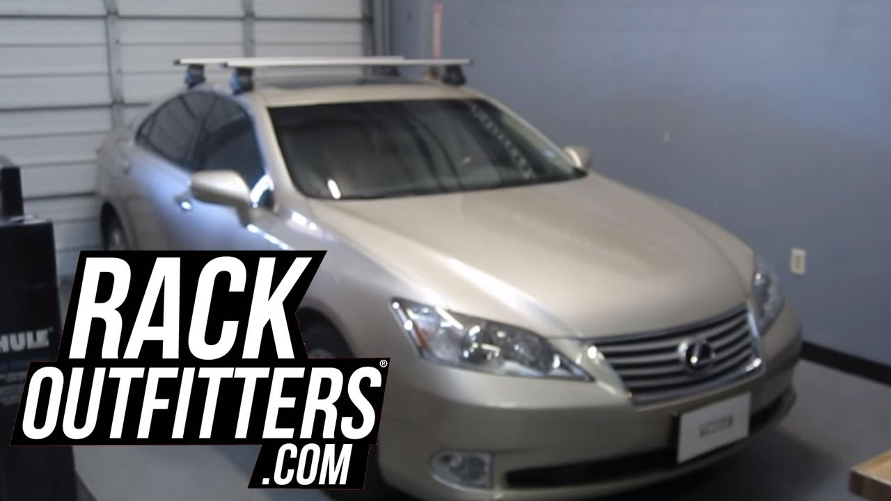Lexus ES 350 Sedan with Thule 480R Traverse AeroBlade Roof