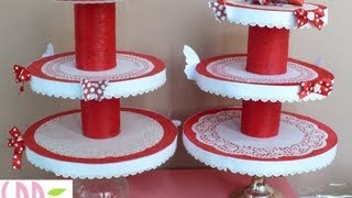 Repeat youtube video Tutorial: Porta Cupcakes! - DIY Cupcakes stand!