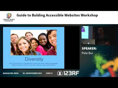 JWC15 - Guide to Building Accessible Websites Workshop