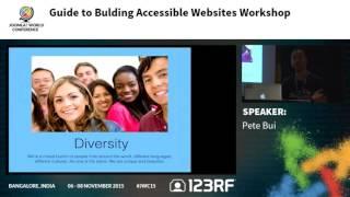 JWC15 - Guide to Building Accessible Websites Workshop