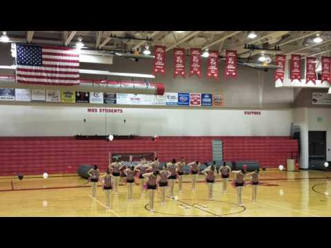 Just Dance extreme team performing their Jazz routine at Manti High school Templarette review 2017