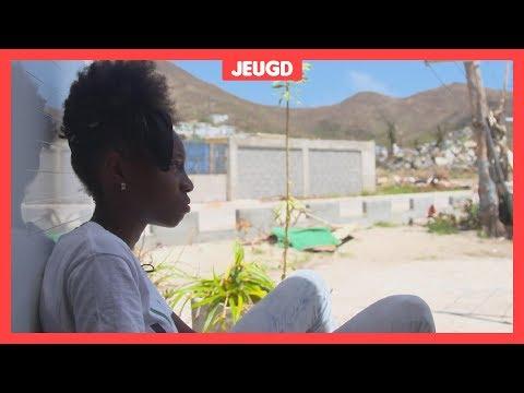 Akira (11) laat zien hoe het op Sint-Maarten is