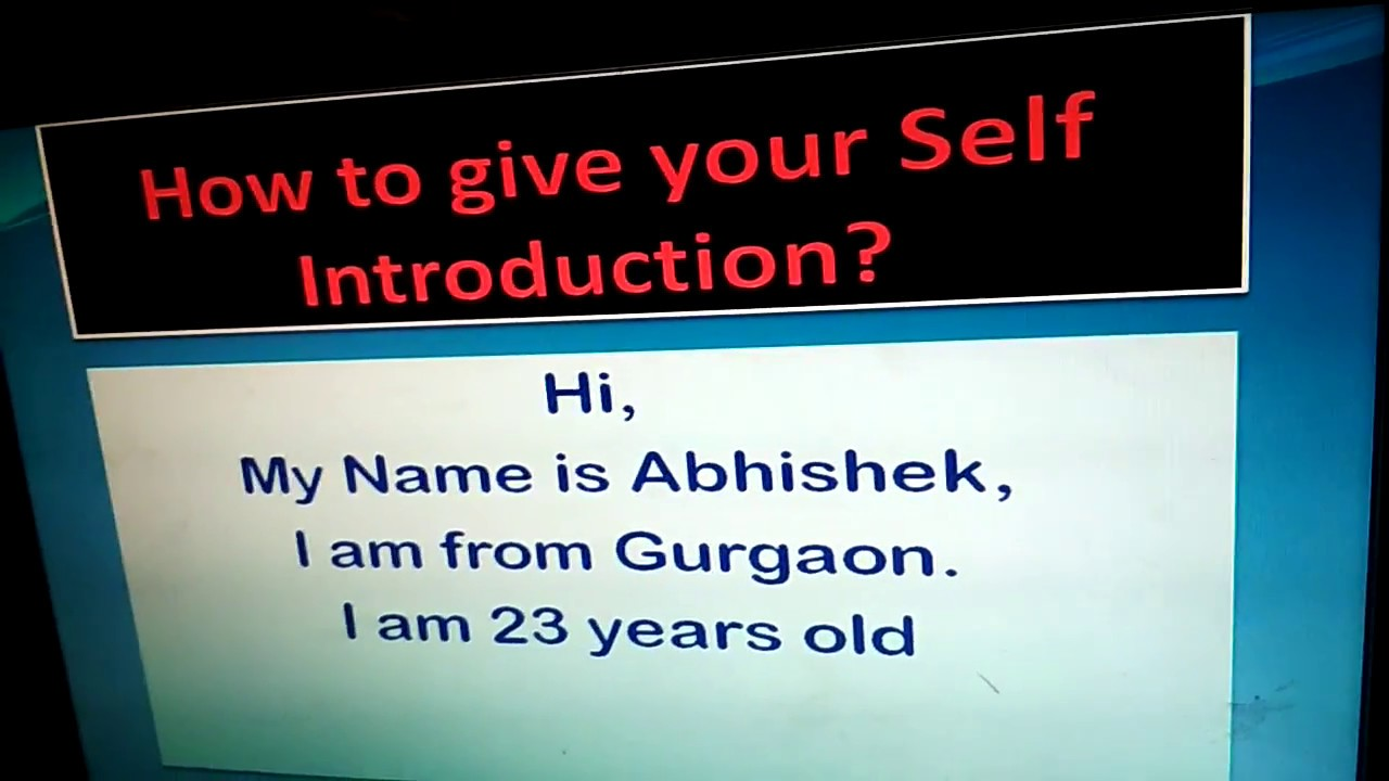 How to introduce yourself for online dating