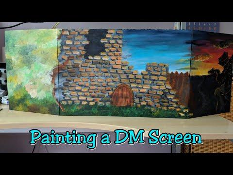 Painting a New DM Screen - YouTube