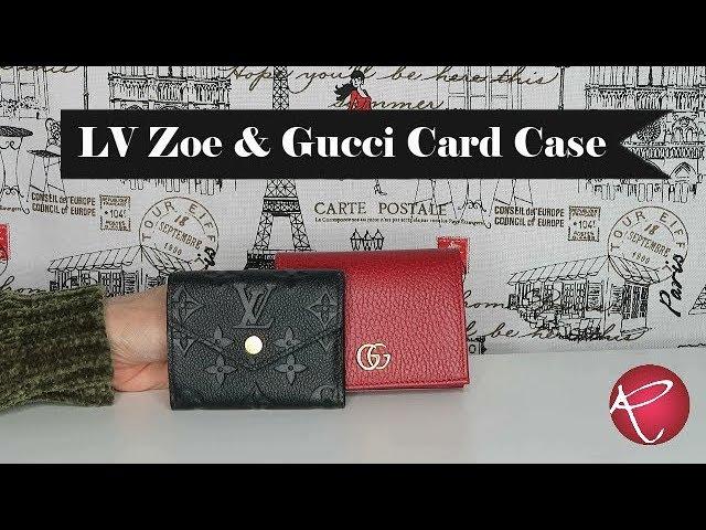 Louis Vuitton Zoe & Gucci Card Case Comparison   Red Ruby Creates