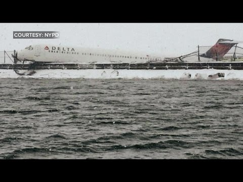 Plane Skids Off Runway at LaGuardia Airport