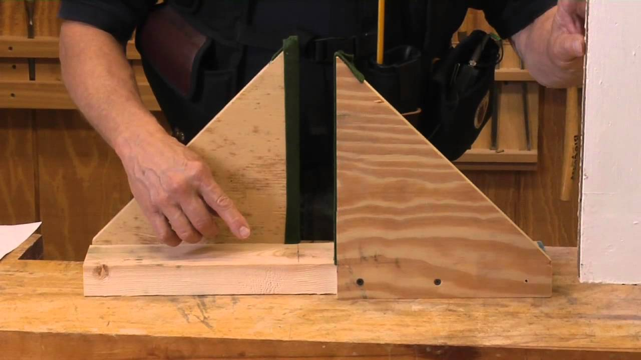 How To how to build door pics : How to Build a Door Buck With Scrap Materials - YouTube