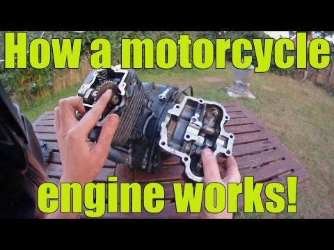 How a motorcycle engine works!