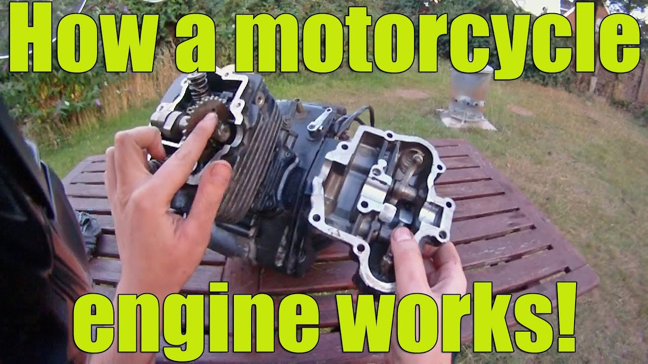How A Motorcycle Engine Works Youtube Suzuki Parts Diagram Together With Spicy110 Vlogger