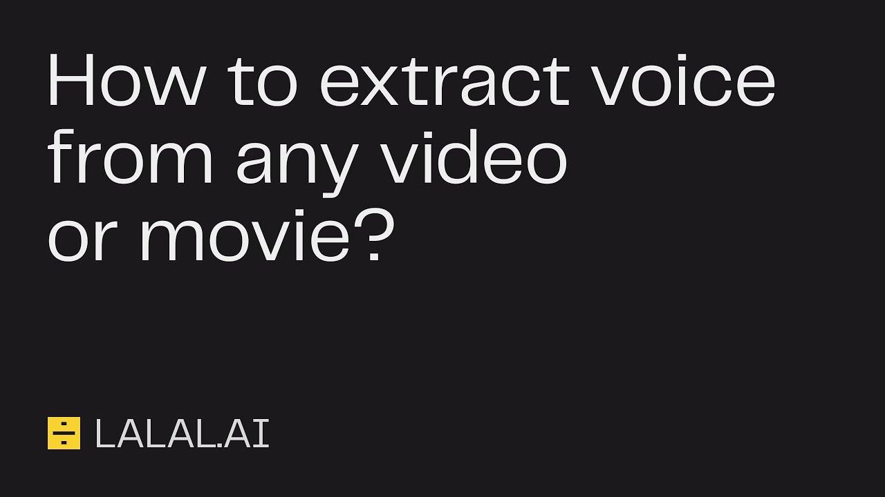 Guide Lalal.ai: Comment extraire la voix de tout film ou vidéo