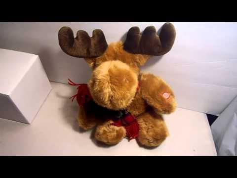 Animated Musical Christmas Santa sings Grandma Got Run Over By a Reindeer