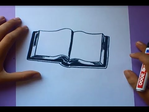 Como dibujar un libro paso a paso  How to draw a book  YouTube
