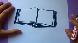 Como dibujar un libro paso a paso | How to draw a book