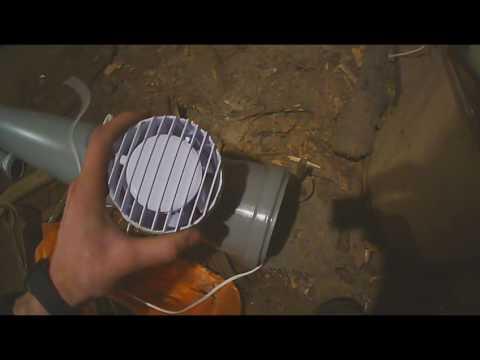 Вытяжка в гараж (из канализационных труб)