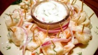Marinated Shrimp With Lemon Dill Sauce