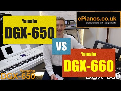 Yamaha DGX650 vs NEW DGX660 piano comparison - What's the difference?
