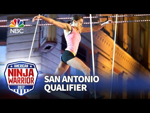 Kacy Catanzaro at the San Antonio Qualifiers - American Ninja Warrior 2017