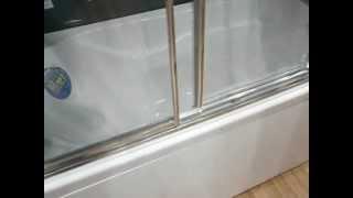 Шторки на ванну Sanswiss TOW3 - отодвигание дверей(Раздвижные двери для ванны трехстворчатые SansWiss TOP-Line TOW3D-1700 - 4 и 6 мм безопасное стекло, магнитный уплотнител..., 2012-03-30T05:30:09.000Z)
