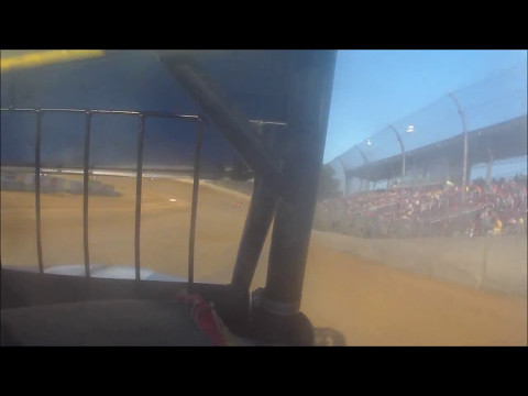 JJ Hughes Racing In Car Video Lawrenceburg Speedway 05/13/2017