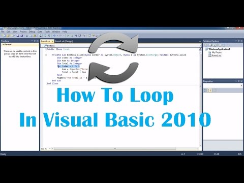 How To Loop Looping Using For In Visual Basic Explained
