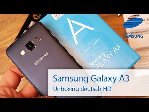 Samsung Galaxy A3 Unboxing Lieferumfang und erster Eindruck deutsch HD