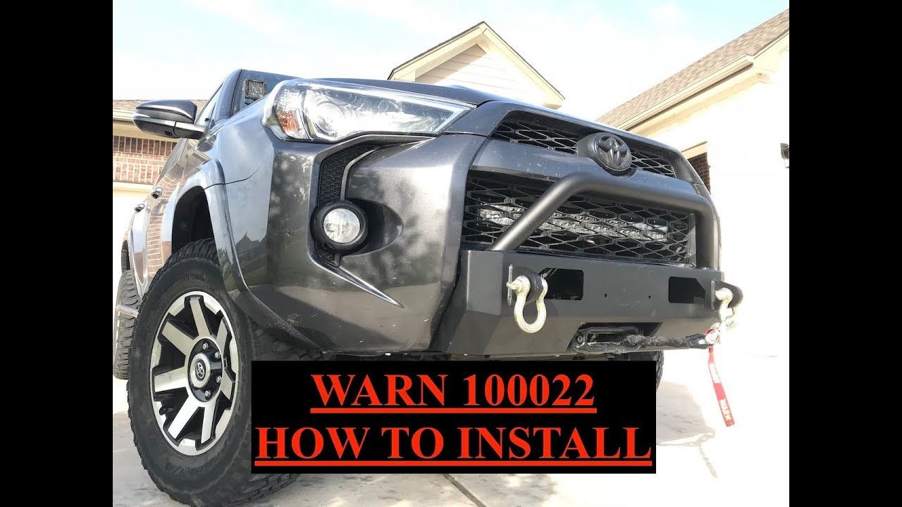 small resolution of warn winch bumper how to install toyota 4runner s3 7