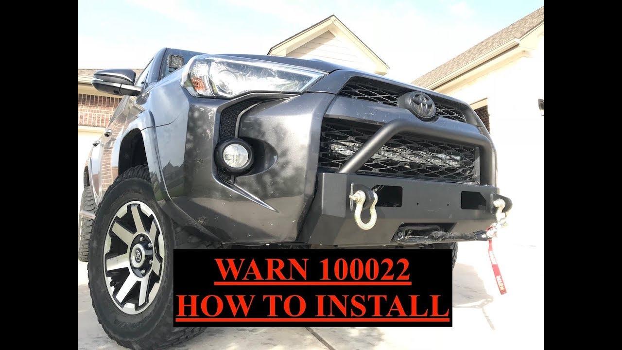 medium resolution of warn winch bumper how to install toyota 4runner s3 7