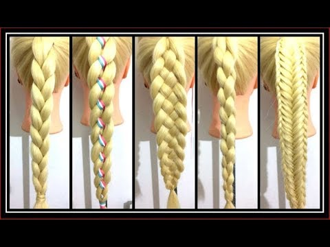6 BRAIDS FOR BEGINNERS / HairGlamour Styles /  Hairstyle Tutorials thumbnail