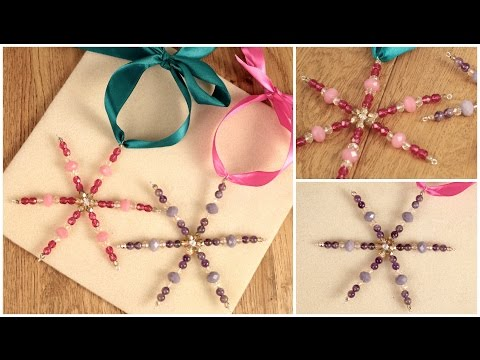 DIY: Make These Crystal Bead Snowflakes - Christmas Tree Decorations