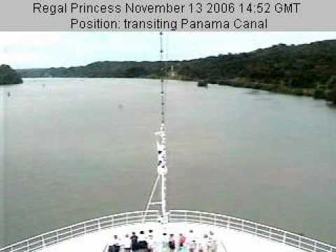 Panama channel 2007 webcam on a ship