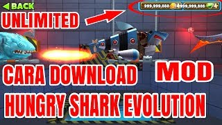 Gambar cover Cara Download Hungry Shark MOD | Unlimited Gold & Unlimited Diamond !