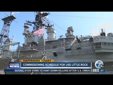 Commissioning for USS Little Rock in Buffalo
