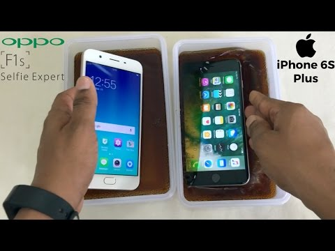 Oppo F1s vs iPhone 6S Plus Coca-Cola Freeze Test For 20 Hours!