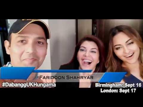 SUPER EXCITED Sonakshi Sinha and Jacqueline Fernandez joined by Salman Khan | Dabangg Tour UK