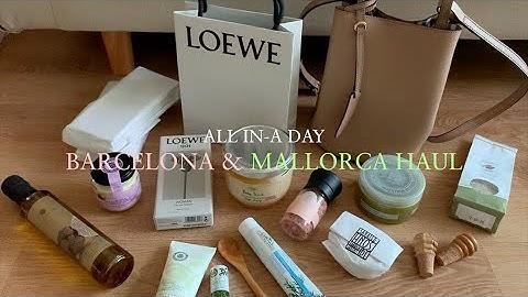[all in-a day travel vlog] 버버리 헤이마켓 버킷백, 로에베 향수, 바르셀로나 &. 마요르카 쇼핑 하울 / BARCELONA & MALLORCA HAUL