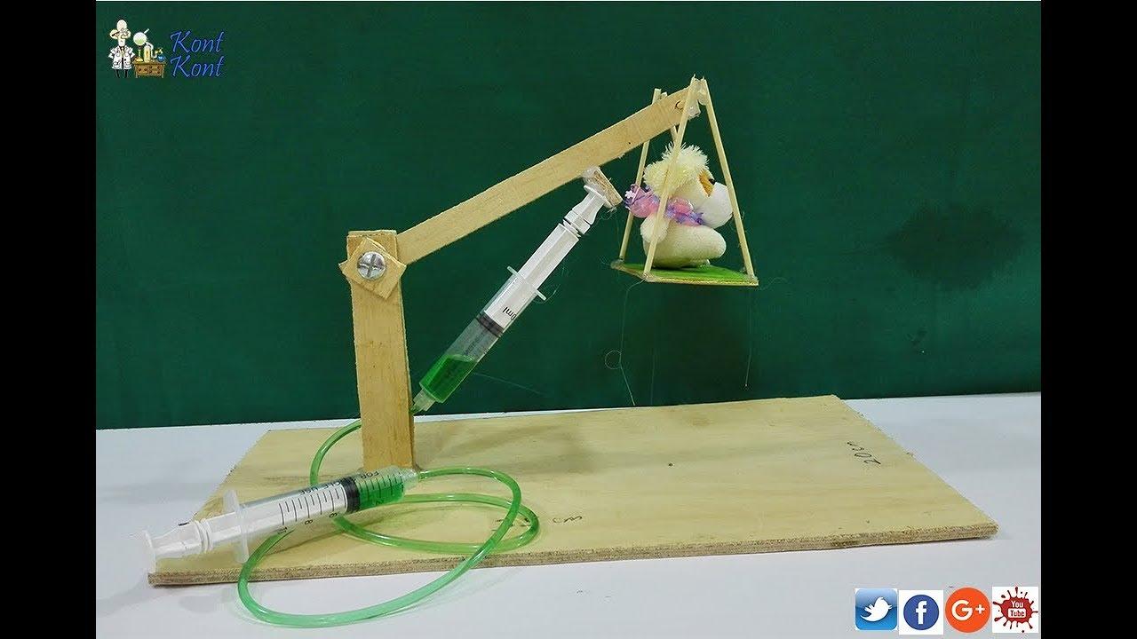 Principle Of Hydraulic Crane Project : Hydraulic crane school science project