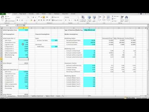 Financial Model Tutorial